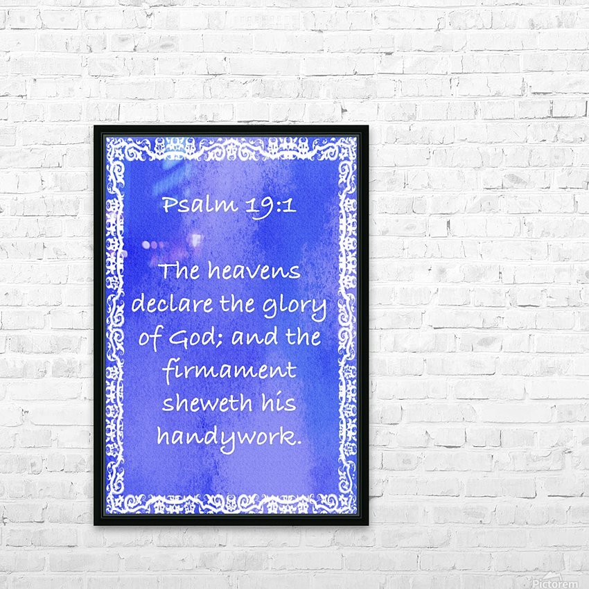 Psalm 19 1 10BL HD Sublimation Metal print with Decorating Float Frame (BOX)