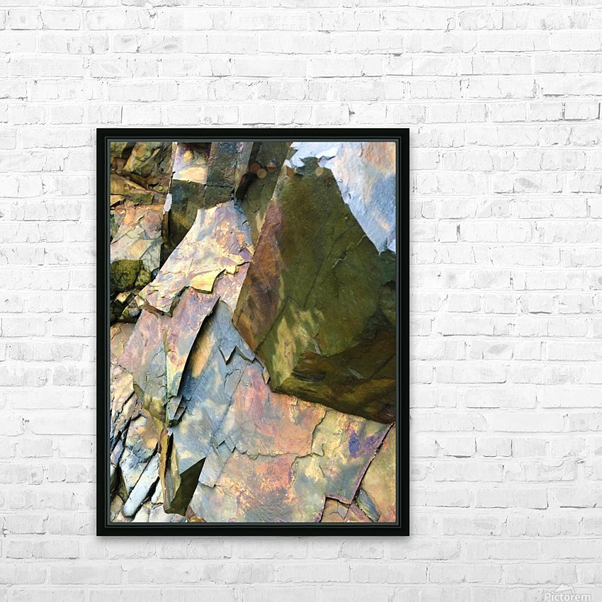Colorful Slate HD Sublimation Metal print with Decorating Float Frame (BOX)
