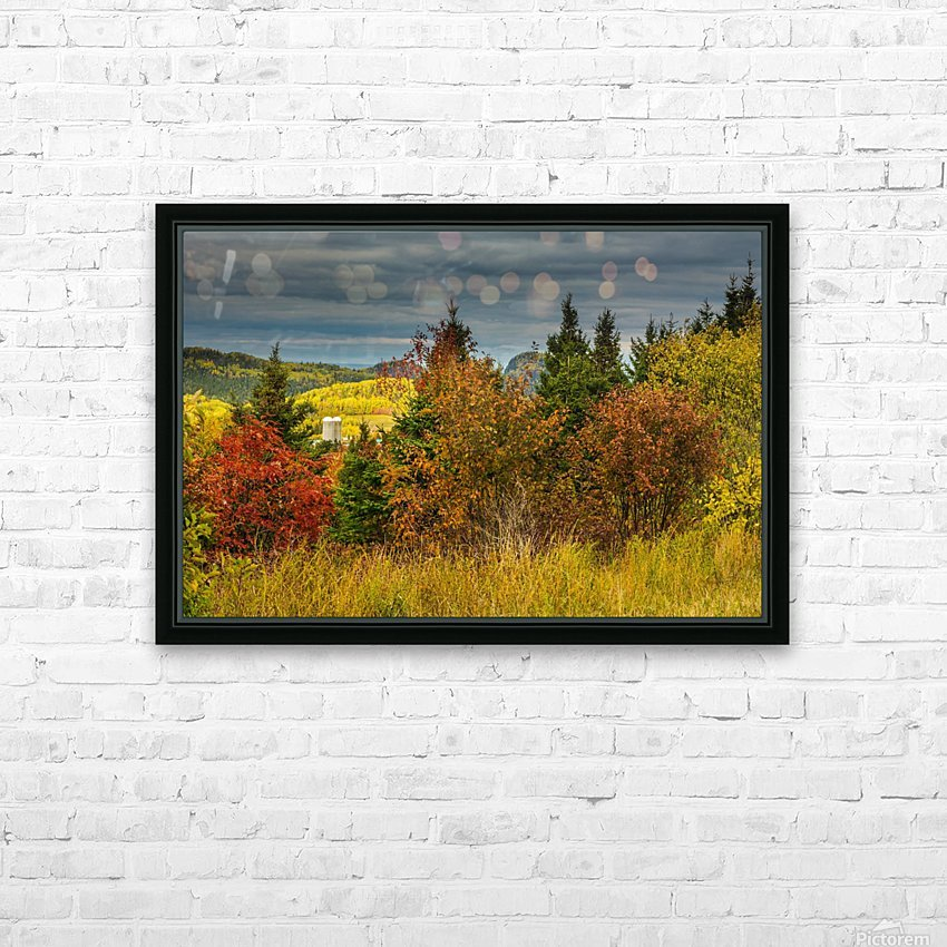 Autumn rainbow HD Sublimation Metal print with Decorating Float Frame (BOX)