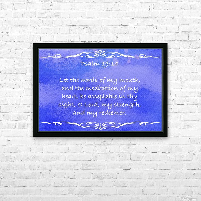 Psalm 19 14 3BL HD Sublimation Metal print with Decorating Float Frame (BOX)