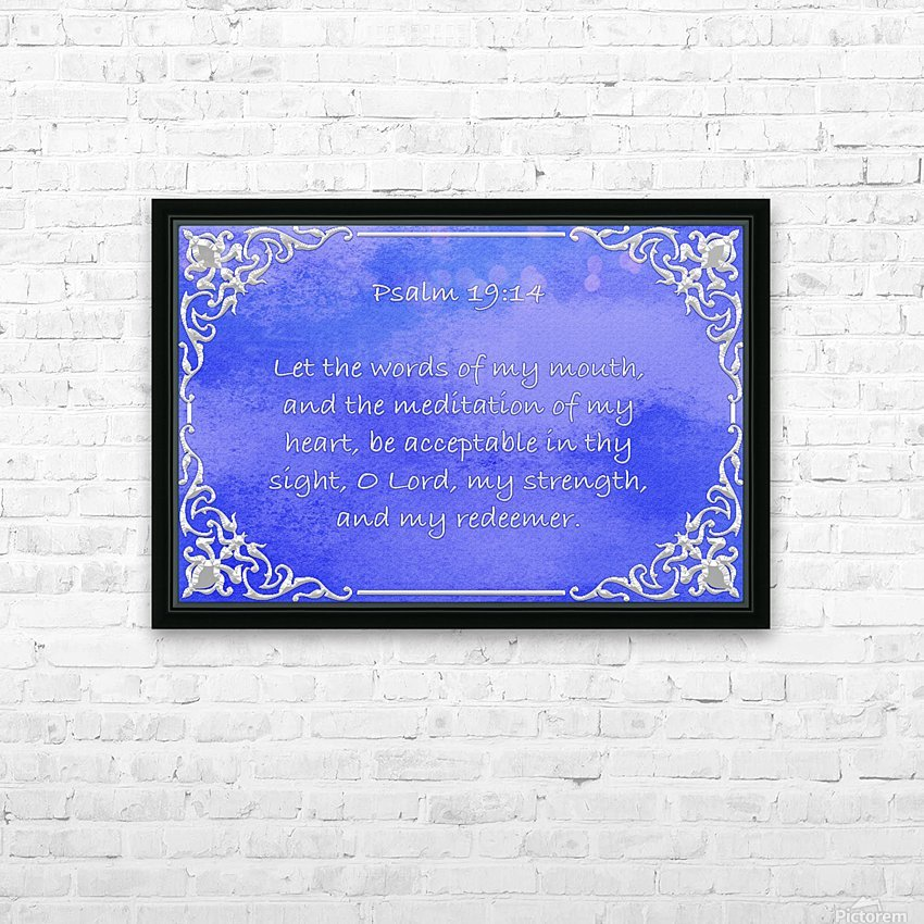 Psalm 19 14 1BL HD Sublimation Metal print with Decorating Float Frame (BOX)