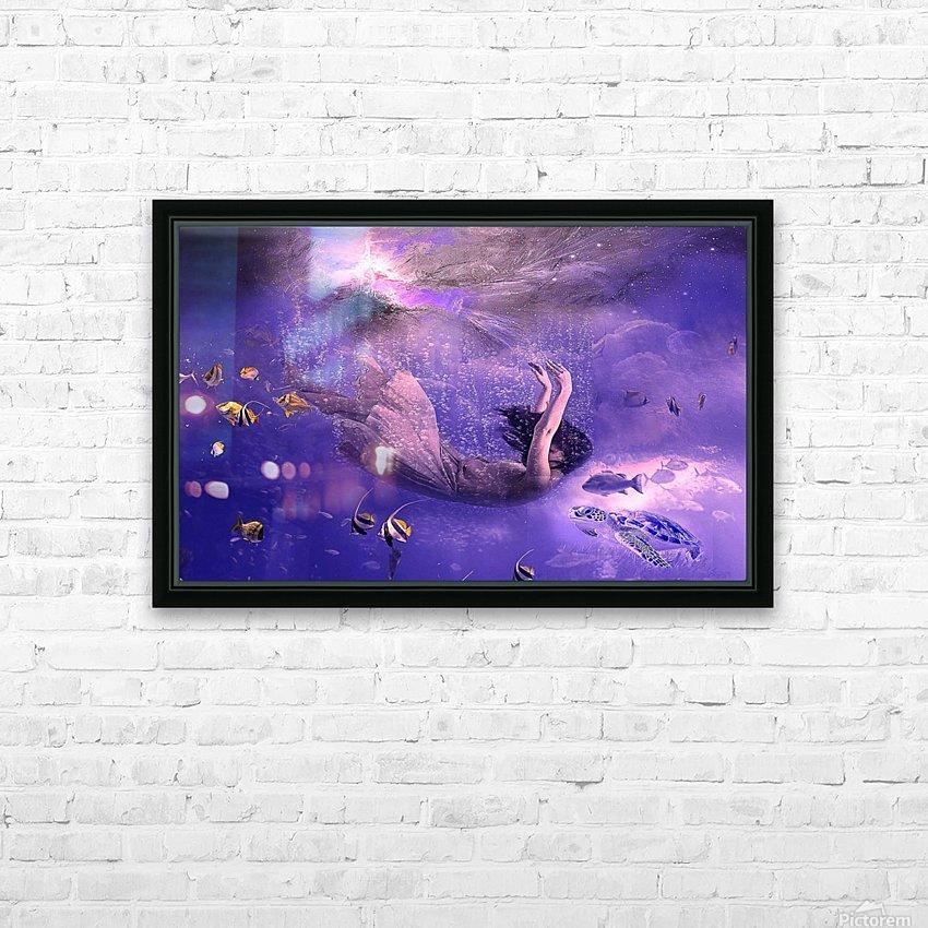Deep relax HD sublimation métal imprimé avec décoration flotteur cadre (boîte)