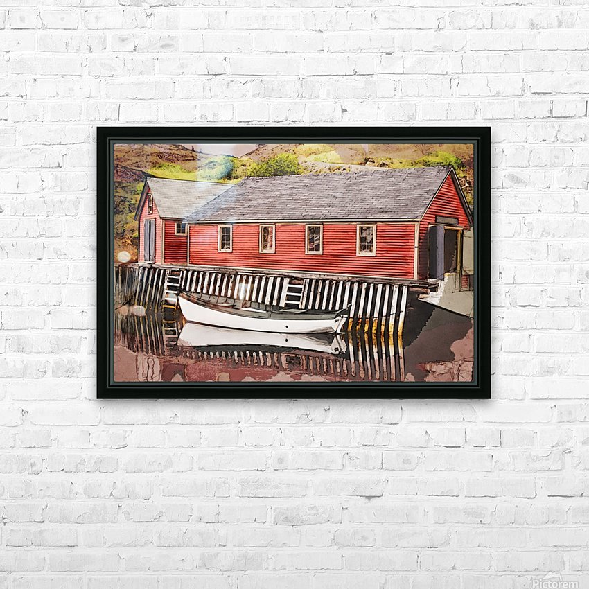 Trinity bay SQArt HD Sublimation Metal print with Decorating Float Frame (BOX)