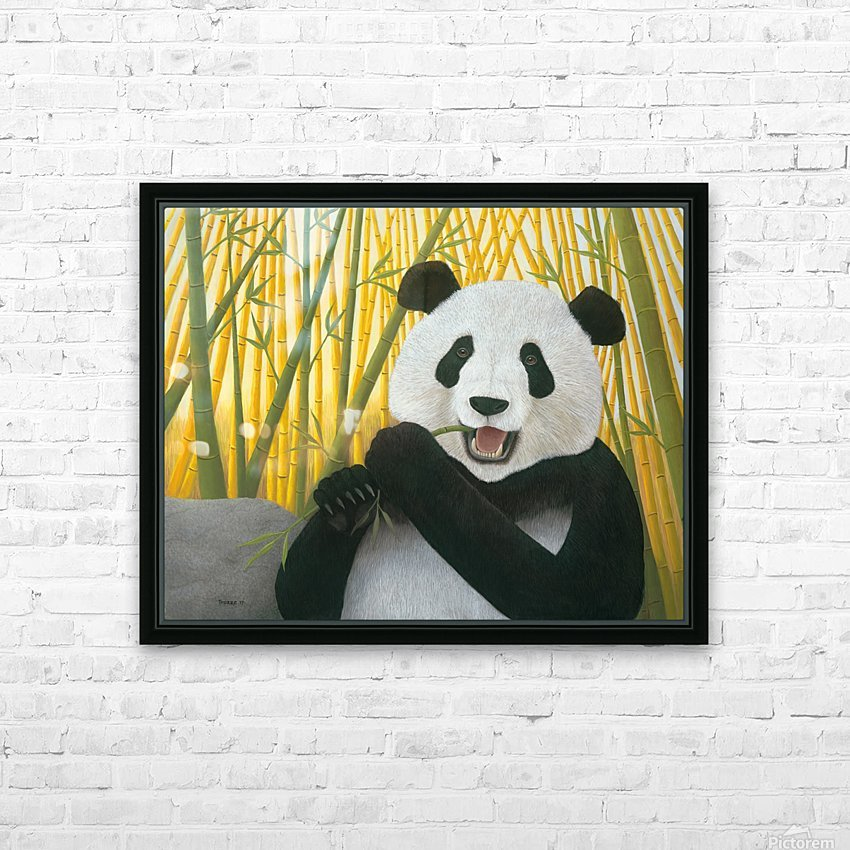 P is for Panda HD Sublimation Metal print with Decorating Float Frame (BOX)