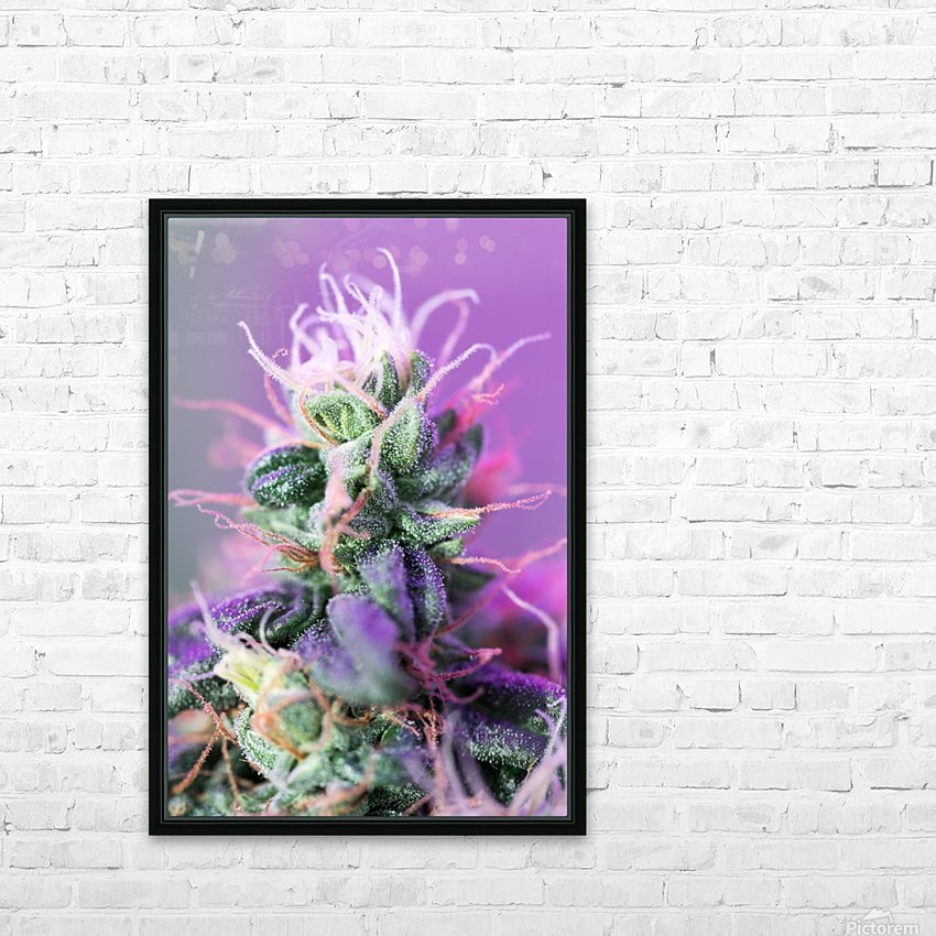 PinkFlower HD Sublimation Metal print with Decorating Float Frame (BOX)
