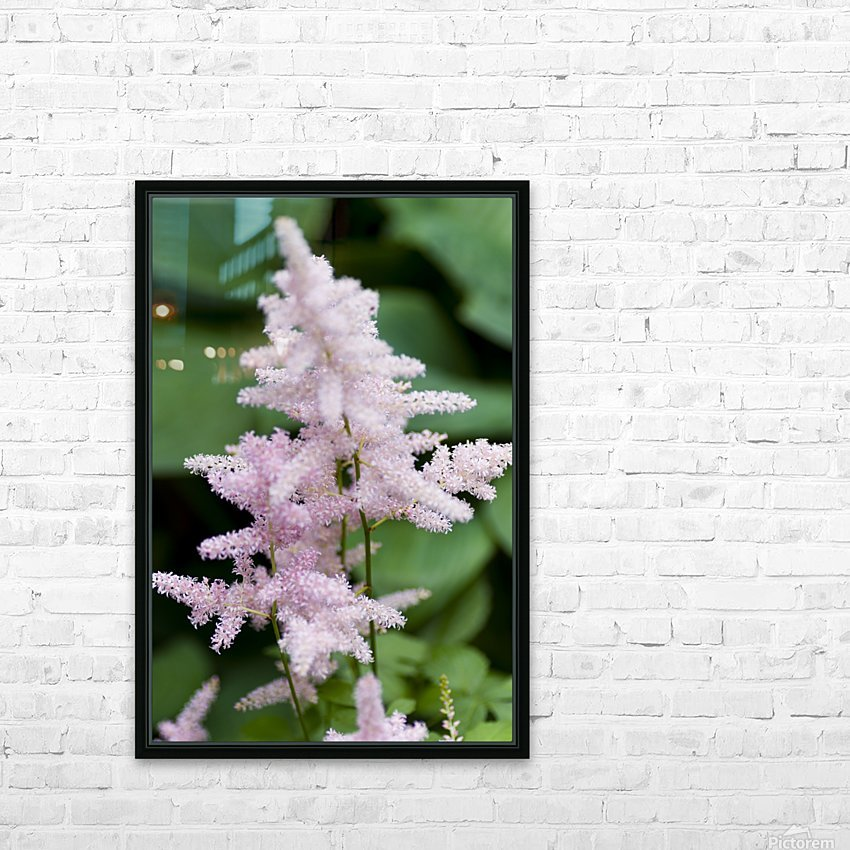Pink Astilbe 2 HD Sublimation Metal print with Decorating Float Frame (BOX)