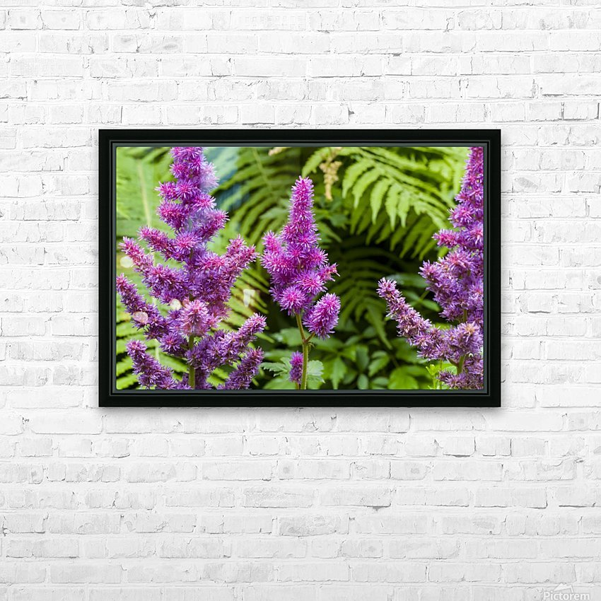 Red Astilbe 1 HD Sublimation Metal print with Decorating Float Frame (BOX)
