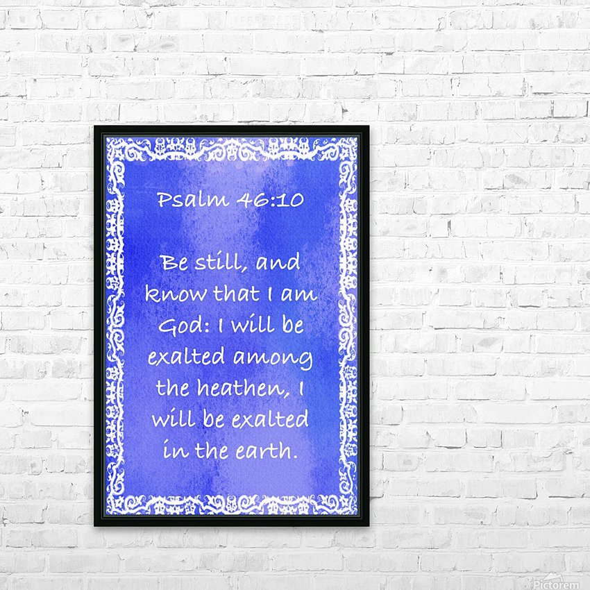 Psalm 46 10 10BL HD Sublimation Metal print with Decorating Float Frame (BOX)