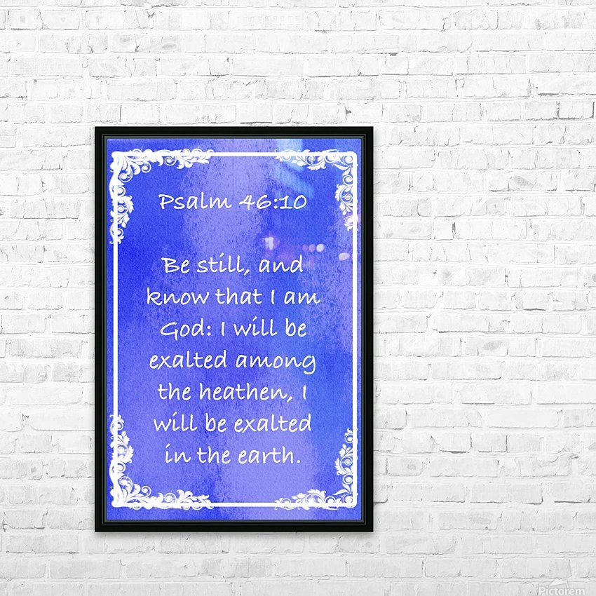 Psalm 46 10 8BL HD Sublimation Metal print with Decorating Float Frame (BOX)