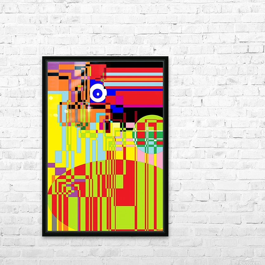 Funny Computer HD Sublimation Metal print with Decorating Float Frame (BOX)