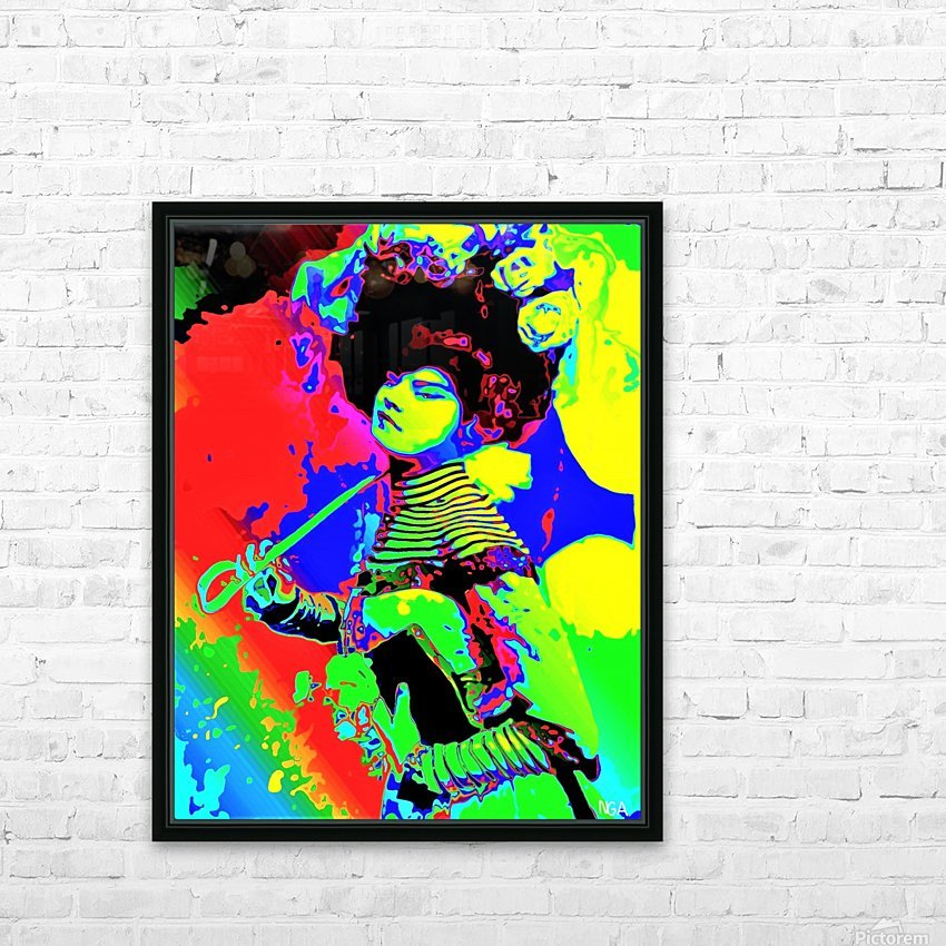 Lady with Parasol - by Neil Gairn Adams  HD Sublimation Metal print with Decorating Float Frame (BOX)