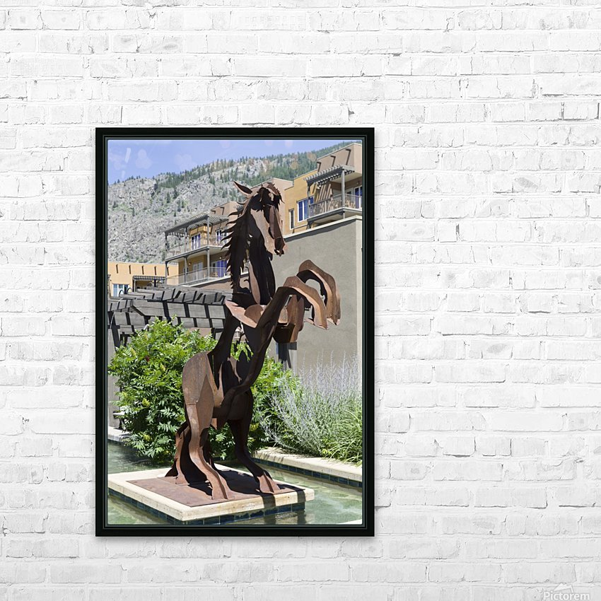 Metal Horse sculpture HD Sublimation Metal print with Decorating Float Frame (BOX)