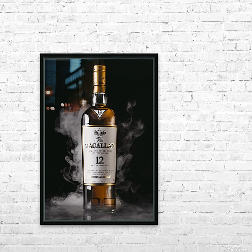 WHISKEY BOTTLE  HD Sublimation Metal print with Decorating Float Frame (BOX)