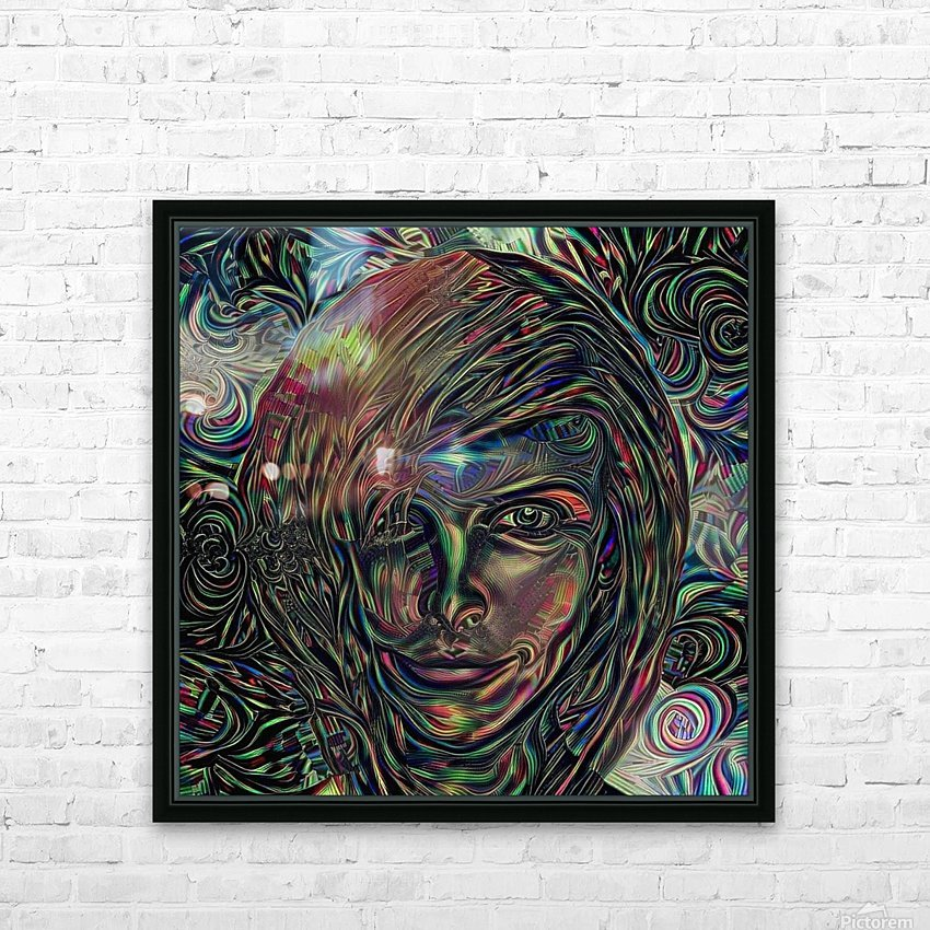 Womans Face HD Sublimation Metal print with Decorating Float Frame (BOX)