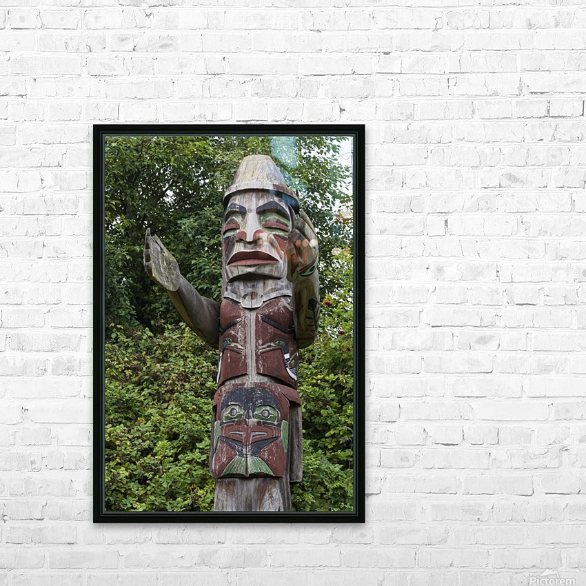 Totem pole of Granville Island 2 HD Sublimation Metal print with Decorating Float Frame (BOX)