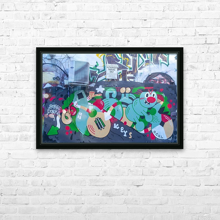 Torontos Graffiti Alley 32 HD Sublimation Metal print with Decorating Float Frame (BOX)