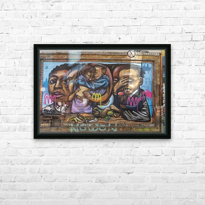 Torontos Graffiti Alley  9 HD Sublimation Metal print with Decorating Float Frame (BOX)