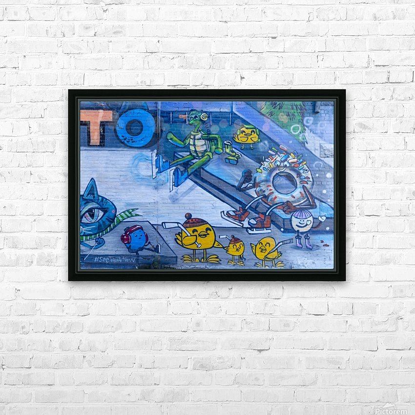Torontos Graffiti Alley  53 HD Sublimation Metal print with Decorating Float Frame (BOX)