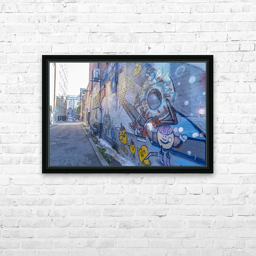 Torontos Graffiti Alley 50 HD Sublimation Metal print with Decorating Float Frame (BOX)