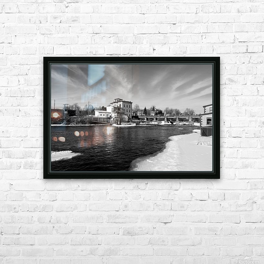Almonte Spring 1 b&w HD Sublimation Metal print with Decorating Float Frame (BOX)