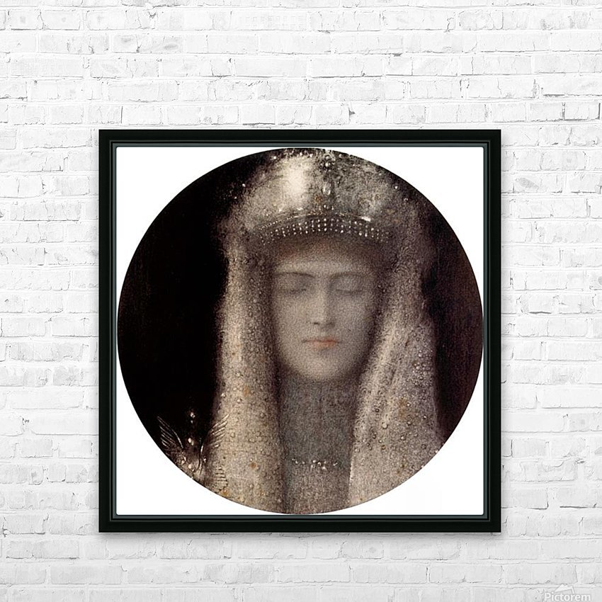 Silence by Odilon Redon HD Sublimation Metal print with Decorating Float Frame (BOX)