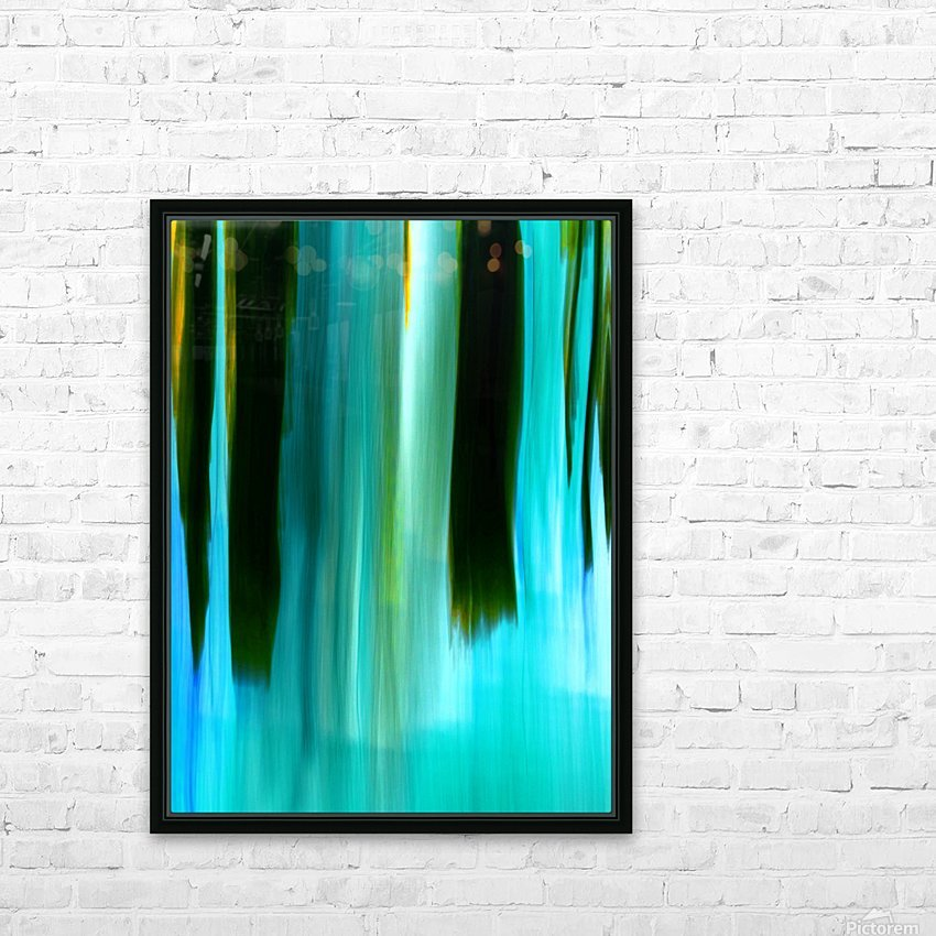Moving Trees 40 Portrait Format 250px HD Sublimation Metal print with Decorating Float Frame (BOX)