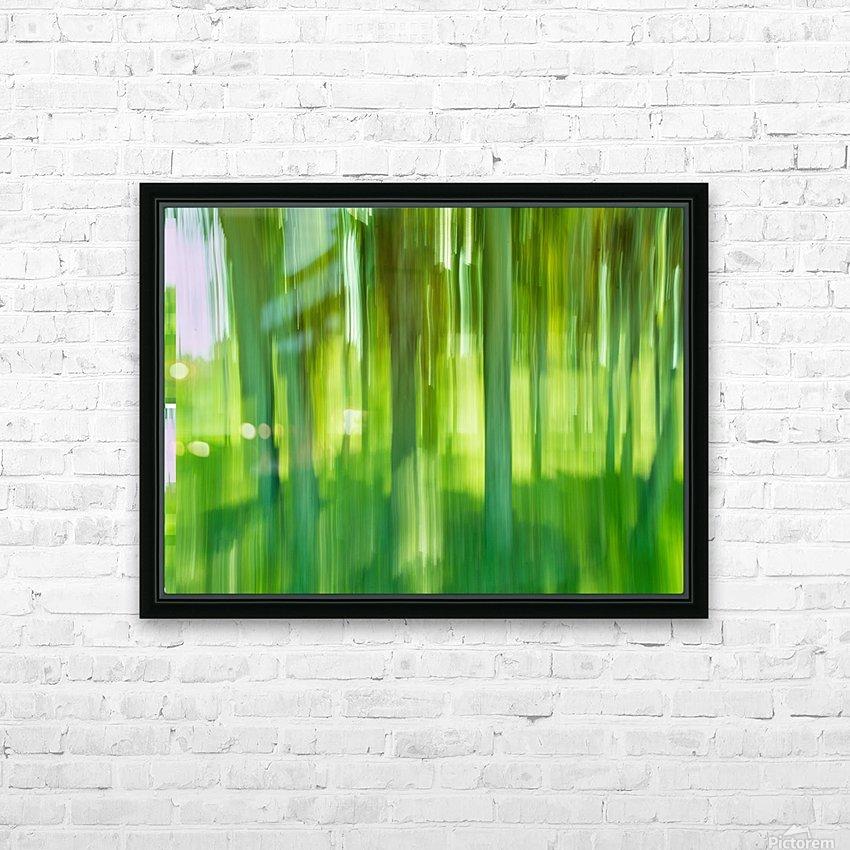 Moving Trees 12 Green Landscape 52-70 360px HD sublimation métal imprimé avec décoration flotteur cadre (boîte)
