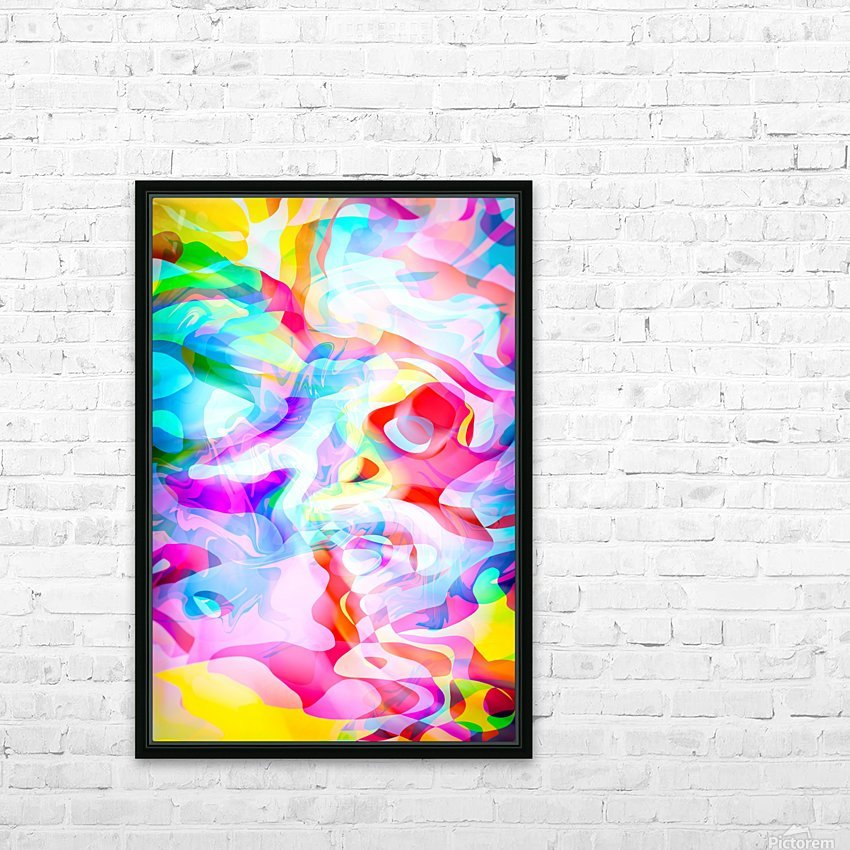 VIVID Abstraction I HD Sublimation Metal print with Decorating Float Frame (BOX)