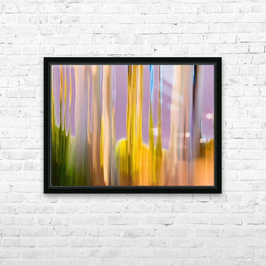 Moving Trees 22 Landscape 52 70 200px HD Sublimation Metal print with Decorating Float Frame (BOX)