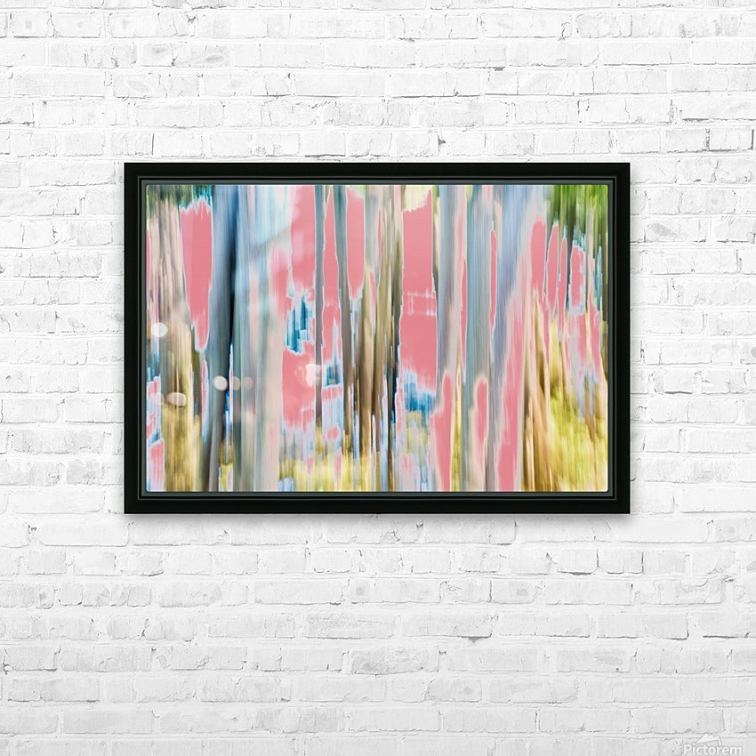Moving Trees 23 Landscape 52 70 200px HD Sublimation Metal print with Decorating Float Frame (BOX)