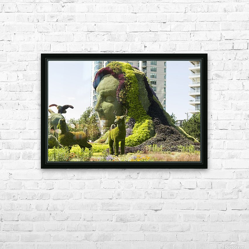 Mother Earth The Legend of Aataentsic with some of her creatures 4 HD Sublimation Metal print with Decorating Float Frame (BOX)