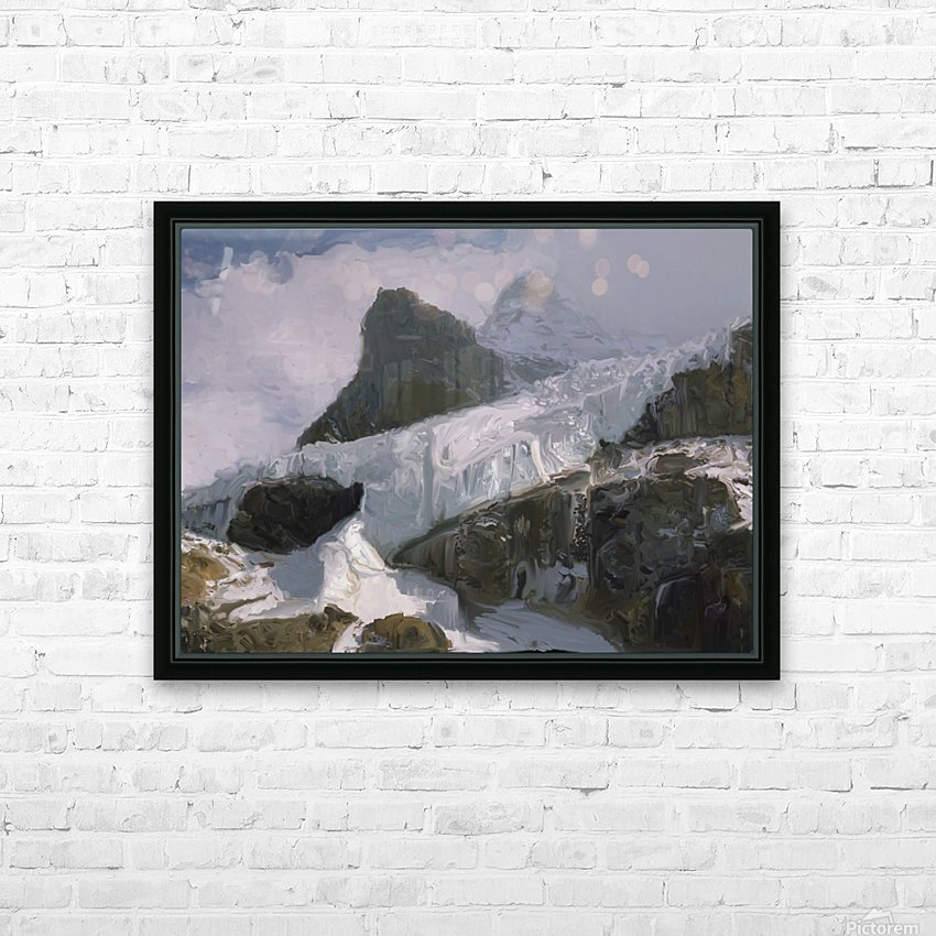 Athabaska Glacier Digital Painting 52 70 200px HD Sublimation Metal print with Decorating Float Frame (BOX)