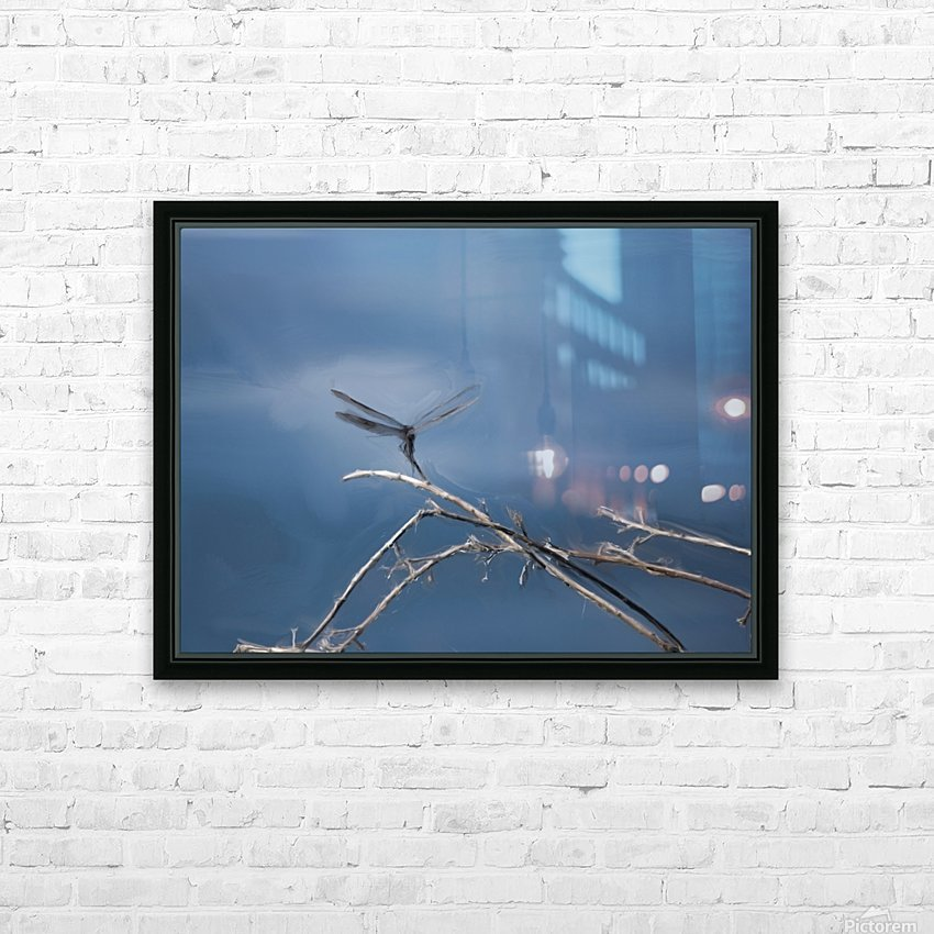 Dragonfly Digital Painting 52-70 200px HD Sublimation Metal print with Decorating Float Frame (BOX)