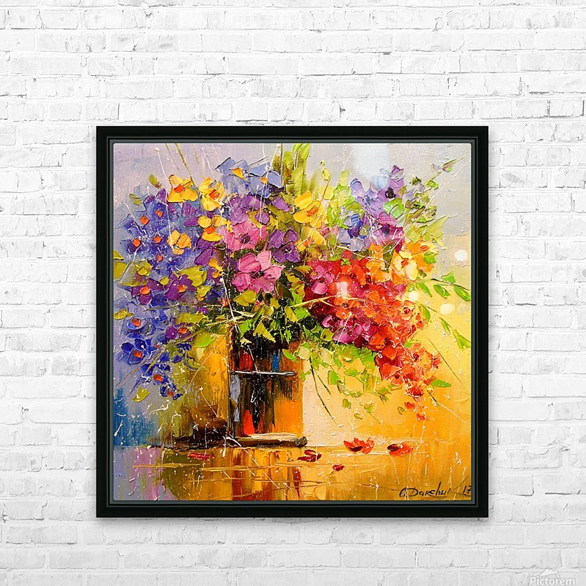A bouquet of wild flowers HD Sublimation Metal print with Decorating Float Frame (BOX)