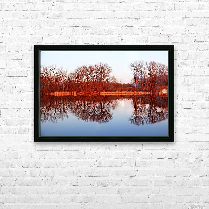 Spring Sunset Glow I HD Sublimation Metal print with Decorating Float Frame (BOX)