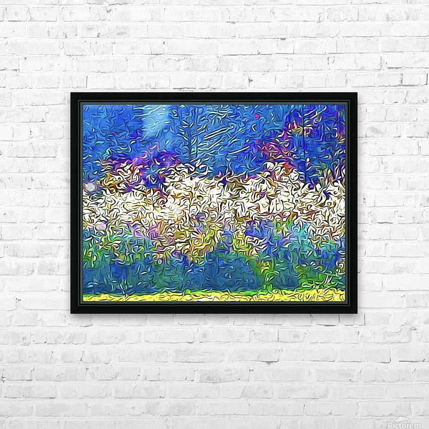 Grasses On Fire HD Sublimation Metal print with Decorating Float Frame (BOX)