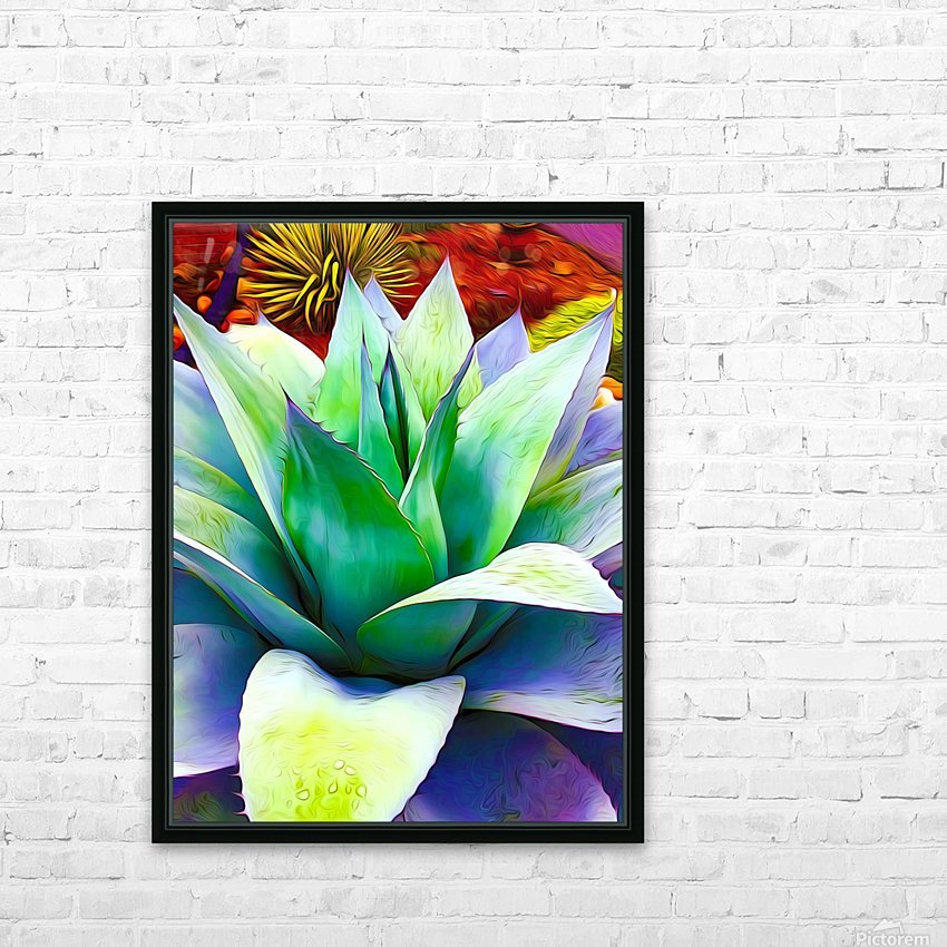 Succulent Dewdrop HD Sublimation Metal print with Decorating Float Frame (BOX)
