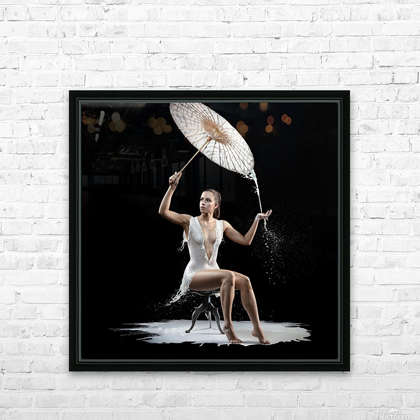 Woman with milk dress HD Sublimation Metal print with Decorating Float Frame (BOX)