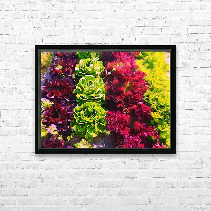Lettuces HD Sublimation Metal print with Decorating Float Frame (BOX)