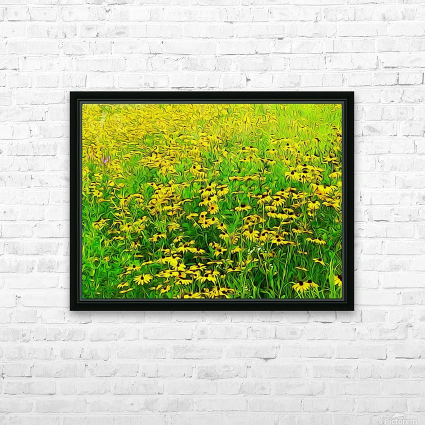 Field Of Flowers HD Sublimation Metal print with Decorating Float Frame (BOX)