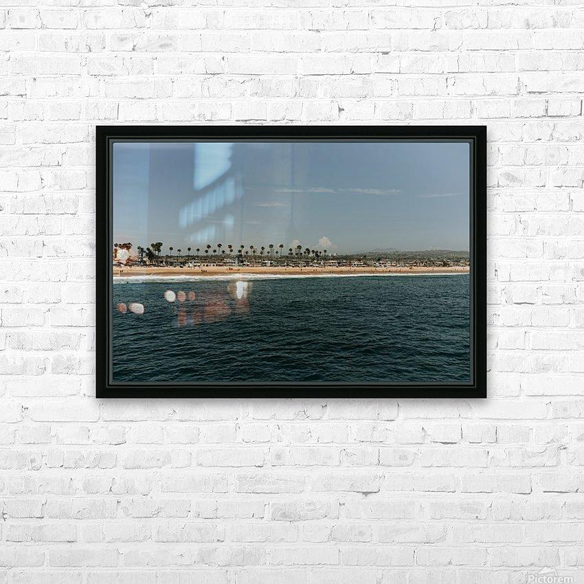 Newport Beach California HD sublimation métal imprimé avec décoration flotteur cadre (boîte)