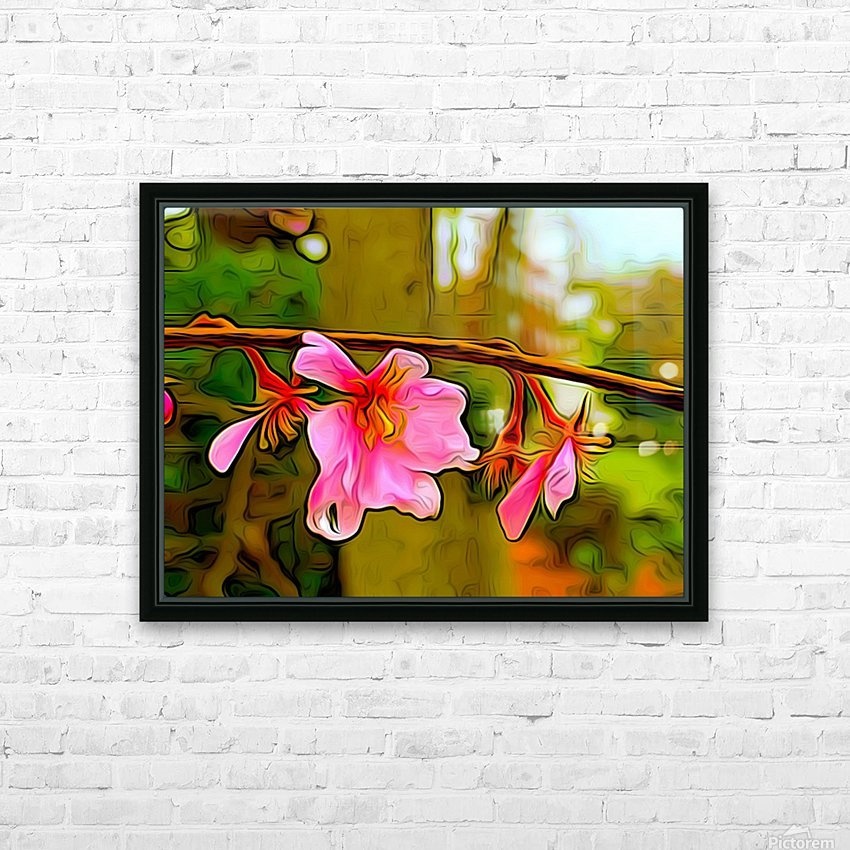 Blossom On a Limb HD Sublimation Metal print with Decorating Float Frame (BOX)