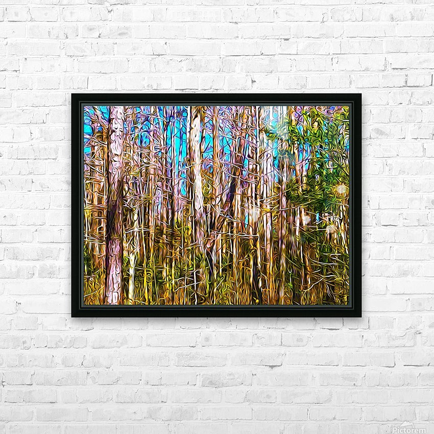 Florida Trees HD Sublimation Metal print with Decorating Float Frame (BOX)