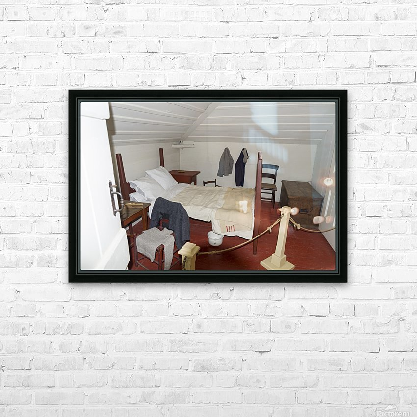 Bedroom in the Lightkeepers House 2 HD Sublimation Metal print with Decorating Float Frame (BOX)