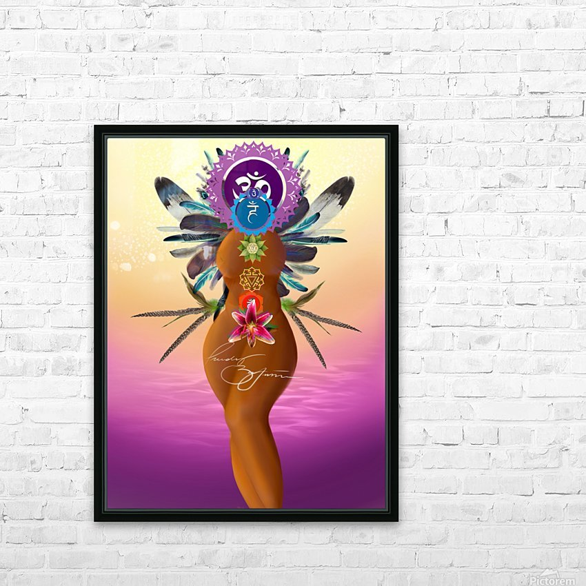 Chakra Queen HD Sublimation Metal print with Decorating Float Frame (BOX)