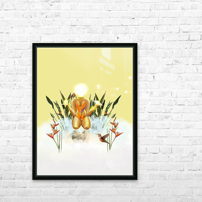 Sun Goddess HD Sublimation Metal print with Decorating Float Frame (BOX)