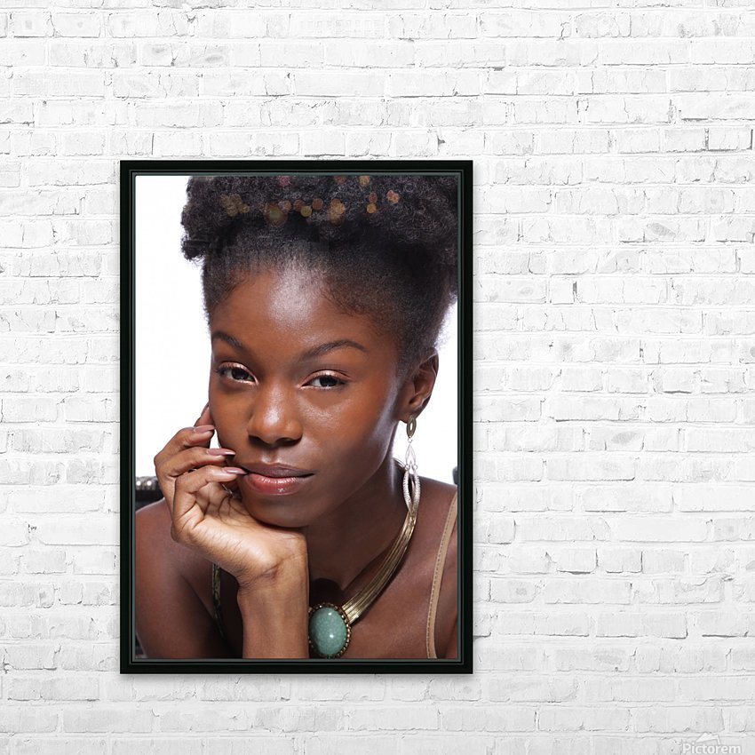 Black Woman Headshot HD Sublimation Metal print with Decorating Float Frame (BOX)
