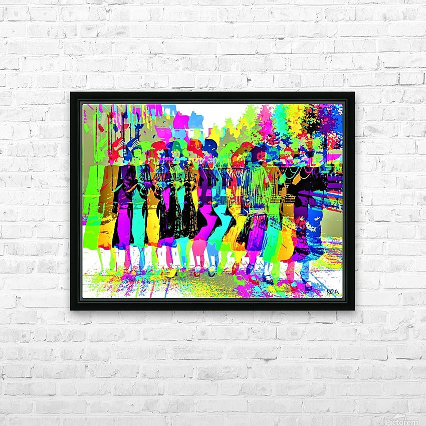 Party Girls -  by Neil Gairn Adams  HD Sublimation Metal print with Decorating Float Frame (BOX)