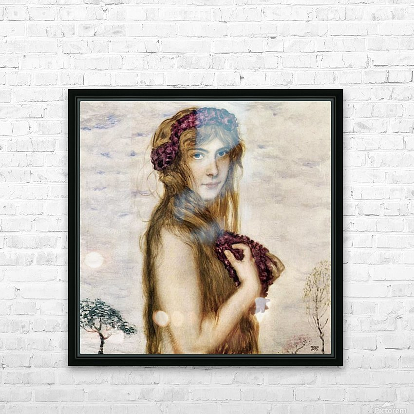 Spring -2- by Franz von Stuck HD Sublimation Metal print with Decorating Float Frame (BOX)