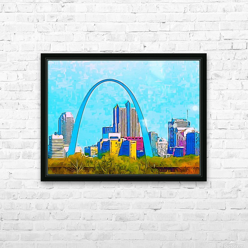 Saint Louis Arch HD Sublimation Metal print with Decorating Float Frame (BOX)